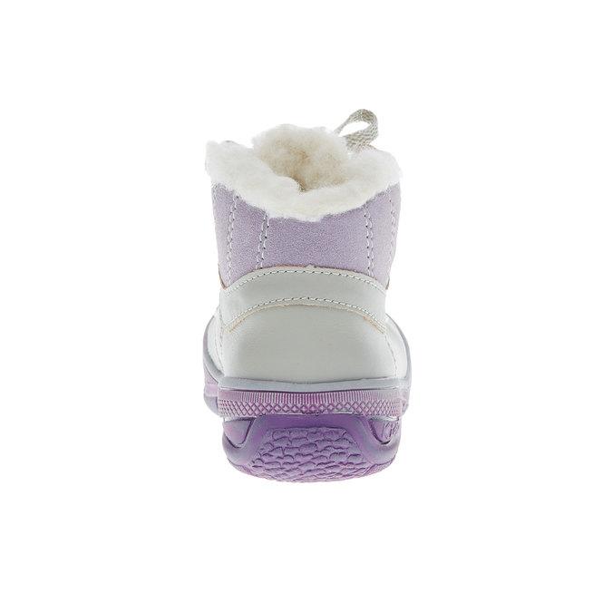 Skórzane zimowe botki mini-b, szary, 124-2105 - 17