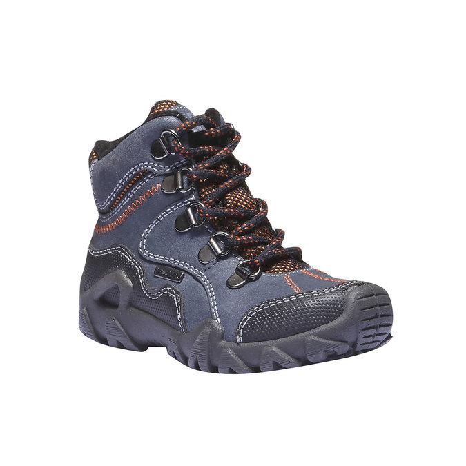 Dziecięce wysokie skórzane buty mini-b, niebieski, 416-9100 - 13