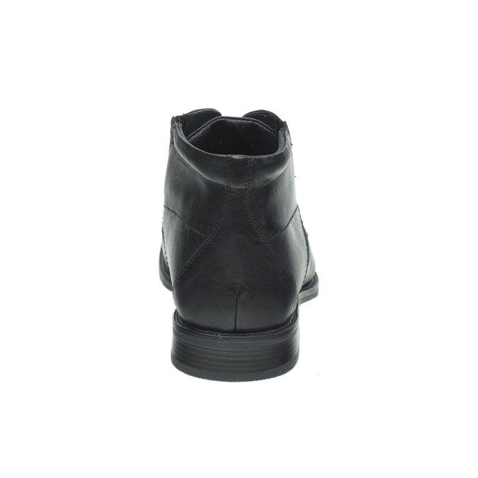Skórzane półbuty bata, czarny, 894-6429 - 17