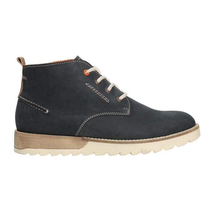 Męskie skórzane buty Chukka Boots weinbrenner, niebieski, 846-9629 - 26