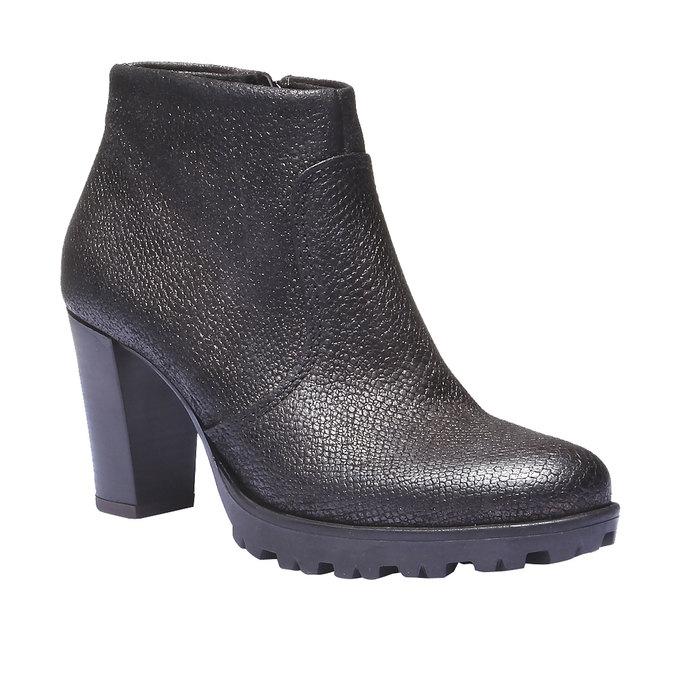 Skórzane buty do kostki bata, szary, 796-2107 - 13