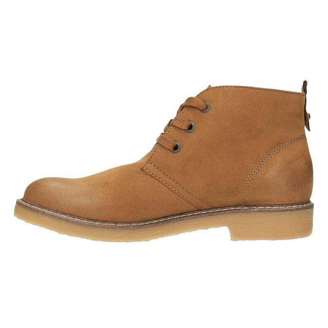Botki damskie zkolorową wyściółką bata, brązowy, 599-4605 - 26
