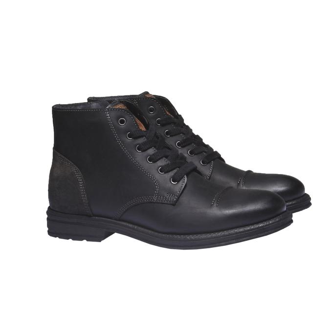 Skórzane buty na co dzień bata, czarny, 894-6555 - 26