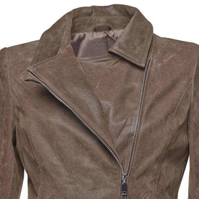 Damska skórzana kurtka bata, brązowy, 973-4107 - 16