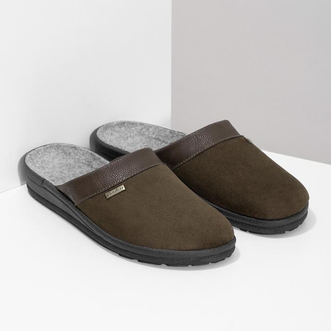 Kapcie męskie bata, brązowy, 879-4600 - 26