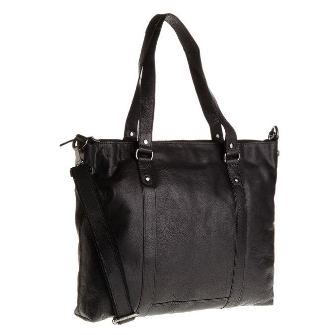 Skórzana damska torebka bata, czarny, 964-6132 - 13