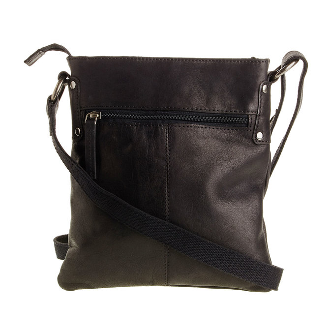 Skórzana torba listonoszka bata, czarny, 964-6113 - 26