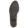 Brązowe skórzane kozaki bata, brązowy, 596-4604 - 19