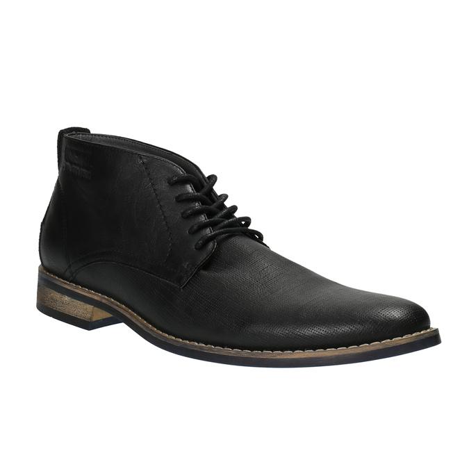 Czarne buty męskie za kostkę bata, czarny, 891-6600 - 13