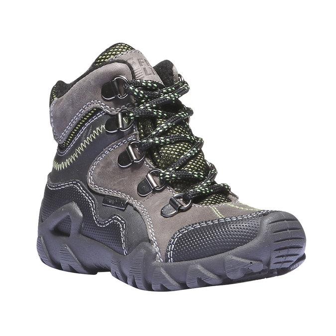 Dziecięce wysokie skórzane buty mini-b, szary, 216-2100 - 13