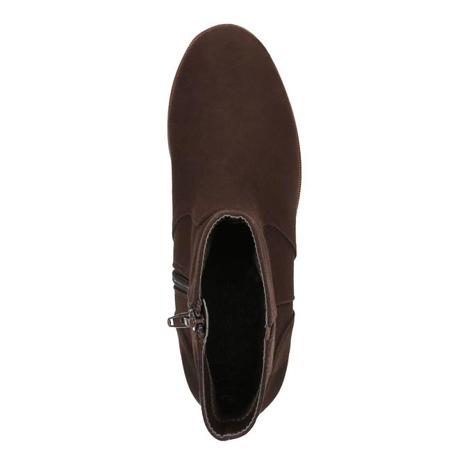 Botki na platformie bata, brązowy, 699-4601 - 19
