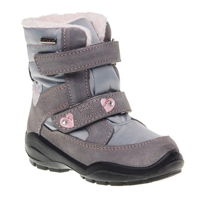 Skórzane buty zimowe mini-b, szary, 293-2152 - 13
