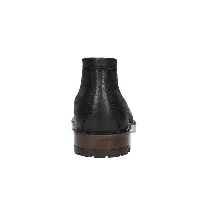 Skórzane buty męskie za kostkę bata, czarny, 826-6642 - 17