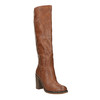 Kozaki na szerokim obcasie bata, brązowy, 791-4612 - 13