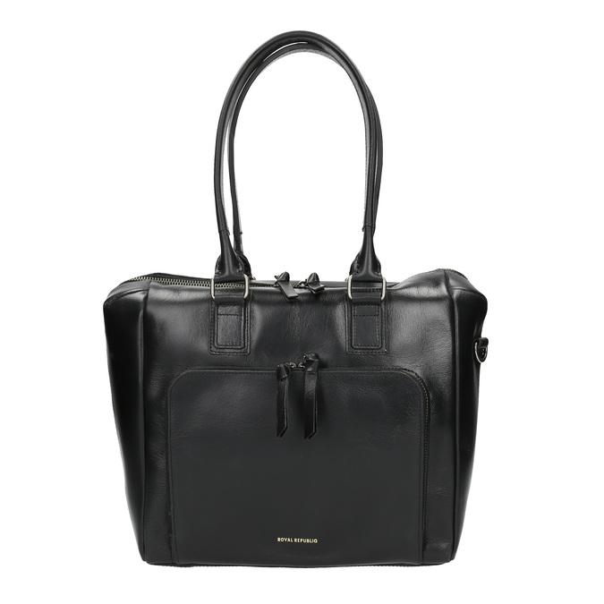 Skórzana torebka z odpinanym paskiem royal-republiq, czarny, 964-6039 - 26