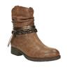 Damskie kozaki do kostki bata, brązowy, 591-4610 - 13