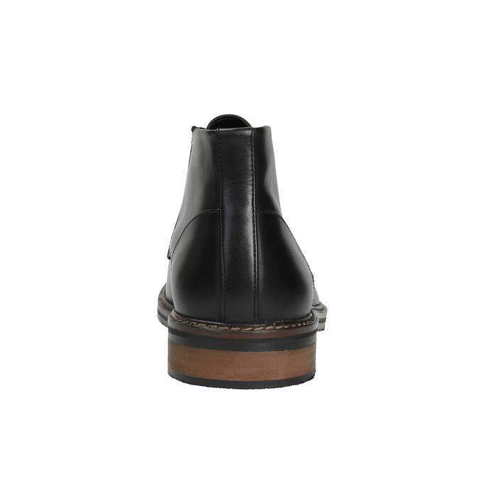 Skórzane buty za kostkę wstylu chukka bata, czarny, 824-6677 - 17