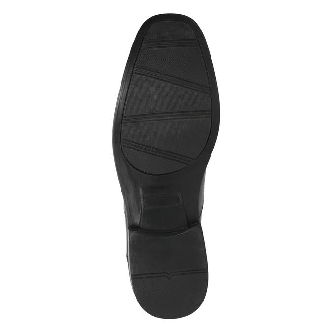 Czarne półbuty ze skóry bata, czarny, 824-6743 - 26