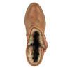 Ocieplane botki w stylu kowbojskim bata, brązowy, 699-4603 - 19