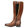 Damskie skórzane kozaki bata, brązowy, 596-4608 - 19