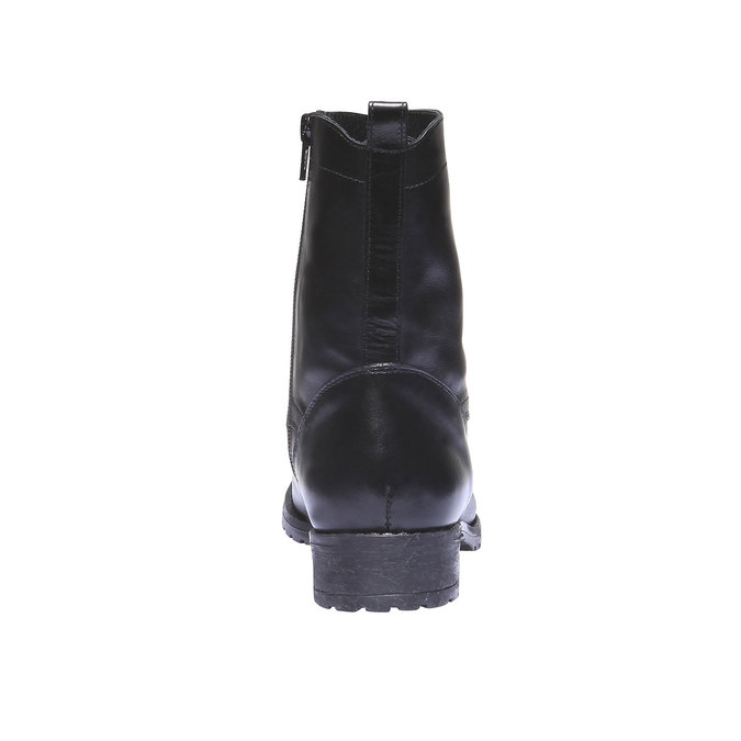 Botki na wyrazistej podeszwie bata, czarny, 594-6211 - 17