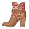 Ocieplane botki w stylu kowbojskim bata, brązowy, 699-4603 - 26