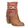 Ocieplane botki w stylu kowbojskim bata, brązowy, 699-4603 - 13