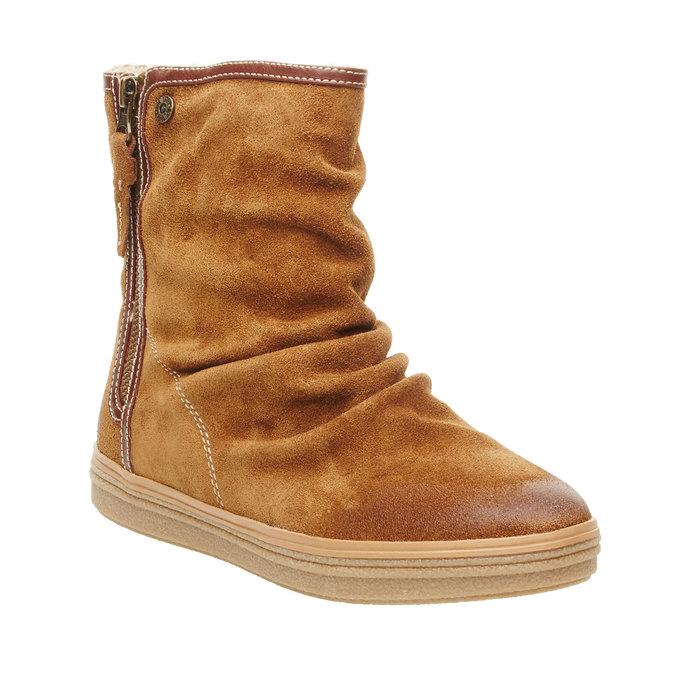 Skórzane botki bata, brązowy, 593-4103 - 13