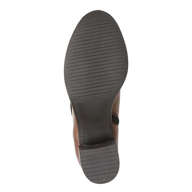 Botki damskie ze skóry bata, brązowy, 694-3359 - 26