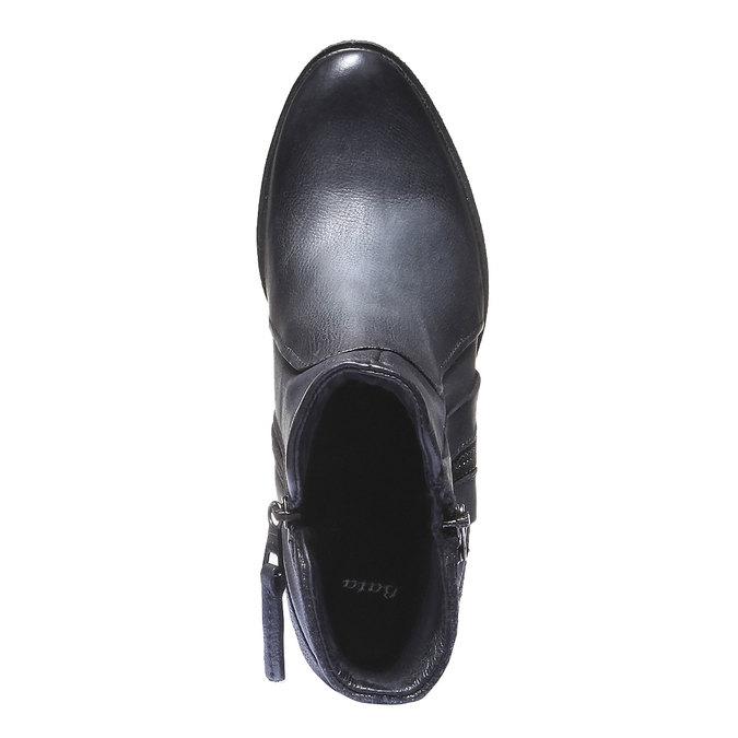 Skórzane botki bata, szary, 796-9100 - 19