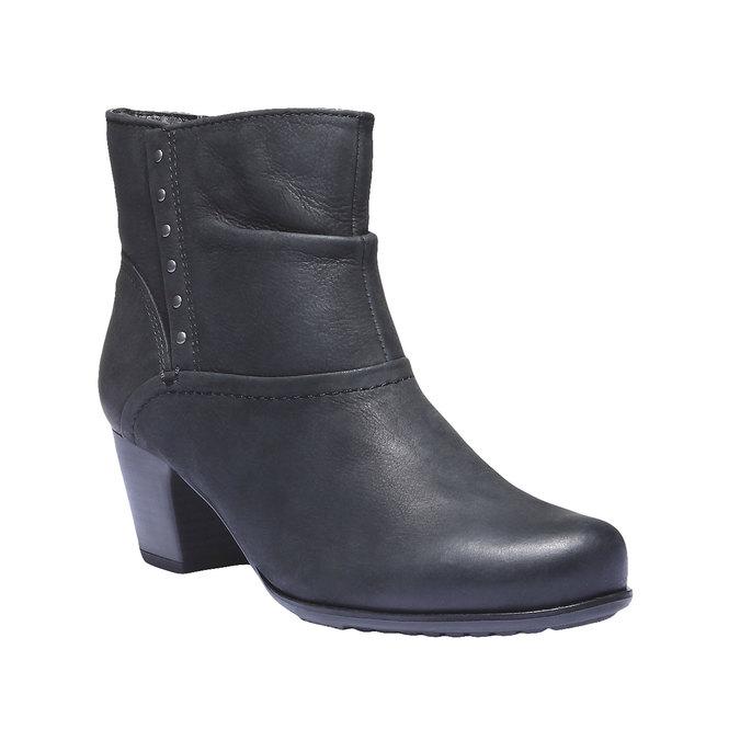 Skórzane botki bata, czarny, 696-6100 - 13