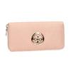 Portfel damski zmetalową aplikacją bata, różowy, 941-5150 - 13