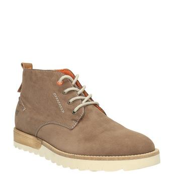Męskie skórzane buty Chukka Boots weinbrenner, brązowy, 846-4629 - 13