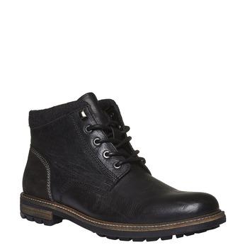 Skórzane zimowe buty za kostkę bata, czarny, 894-6133 - 13