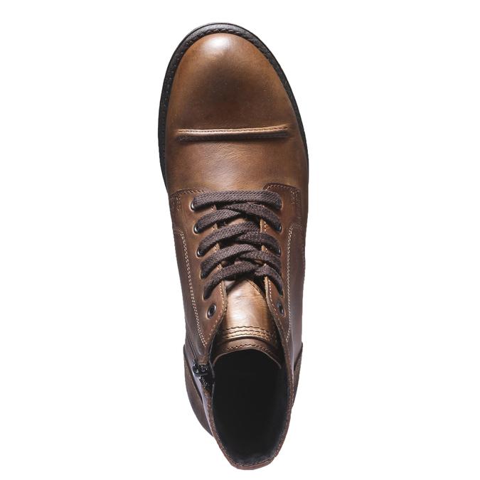 Skórzane buty na co dzień bata, brązowy, 894-3555 - 19