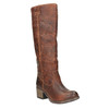 Wysokie skórzane kozaki w kowbojskim stylu bata, brązowy, 696-3608 - 13