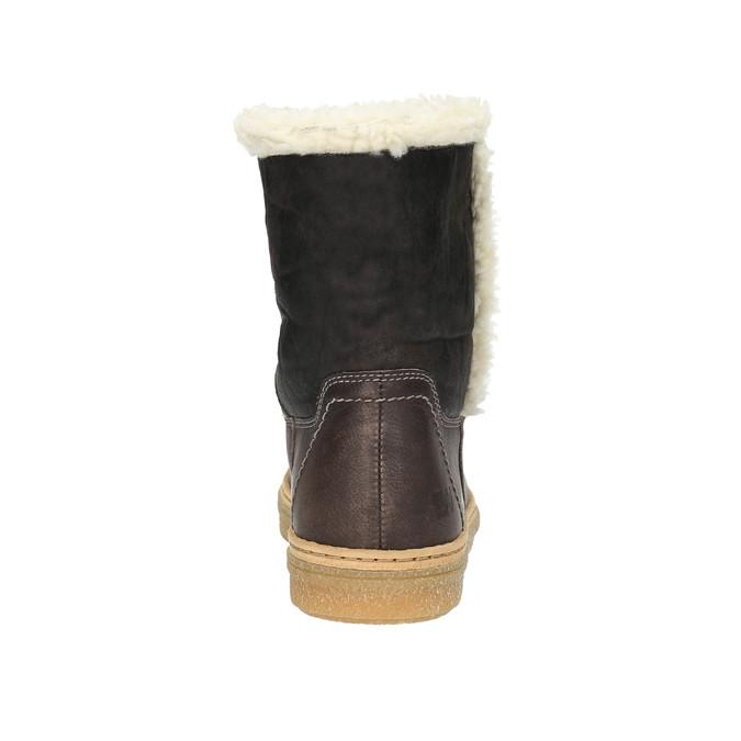 Skórzane buty zimowe z futerkiem weinbrenner, żółty, 596-8628 - 17