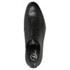 Czarne półbuty męskie ze skóry bata, czarny, 824-6711 - 19