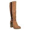 Brązowe kozaki na masywnym obcasie bata, brązowy, 699-5602 - 13