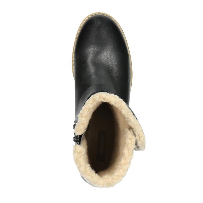 Damskie buty z futerkiem bata, czarny, 594-6609 - 19