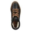 Ocieplane skórzane trampki za kostkę bata, brązowy, 896-4651 - 19
