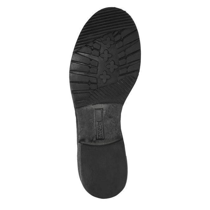 Skórzane buty zimowe zfuterkiem manas, szary, 596-2601 - 26