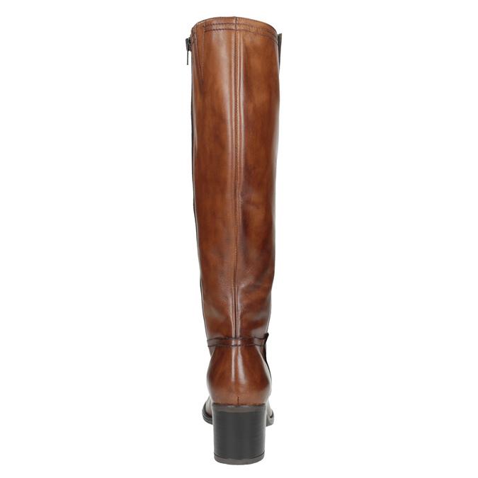 Kozaki damskie ze skóry bata, brązowy, 694-3361 - 17