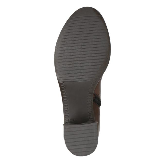 Kozaki damskie ze skóry bata, brązowy, 694-3361 - 26