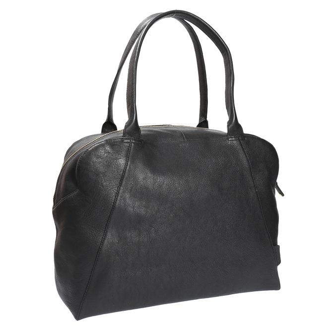 Skórzana torba ze sztywnymi uchwytami vagabond, czarny, 964-6002 - 13