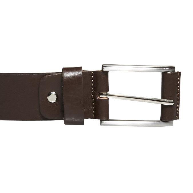Klasyczny skórzany pasek bata, brązowy, 954-4833 - 26