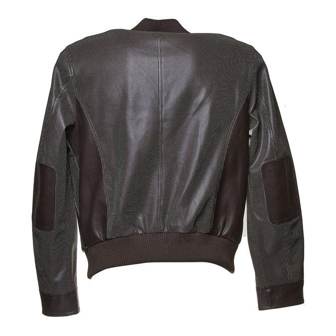 Męska kurtka z perforacją bata, brązowy, 971-4173 - 26