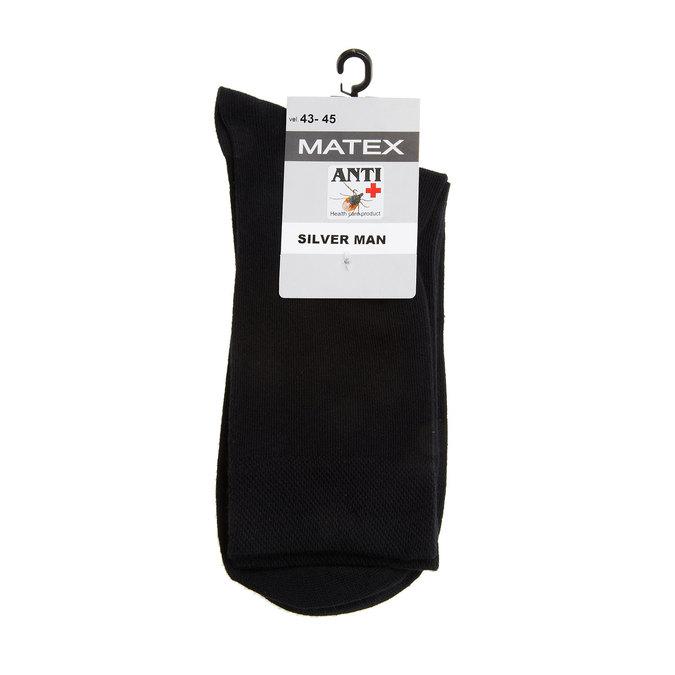 Męskie skarpetki Matex o właściwościach antybakteryjnych matex, czarny, 919-6313 - 13