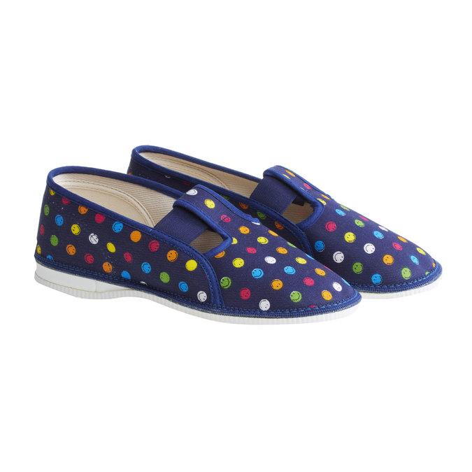 Dziecięce pantofle bata, niebieski, 379-5012 - 26