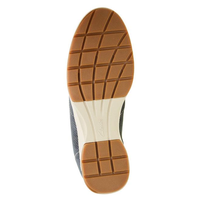 Męskie buty z zamszu clarks, niebieski, 826-9006 - 26